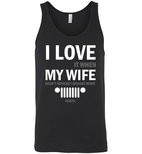 24.95$ - I love My Wife Funny Jeep lovers Unisex Tank