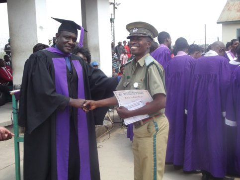 Graduation of TEEZ students at Kamfinsa Prison