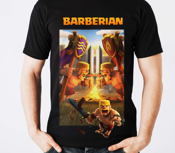 supercell clash of clans tshirts