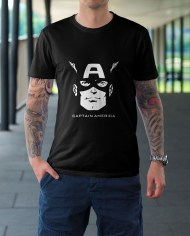 captain america black tshirt
