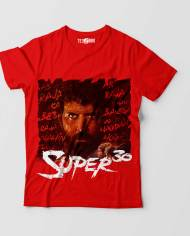 Super 30 Hrithik Tshirt Red