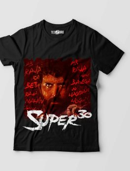 Super 30 Hrithik Tshirt Black
