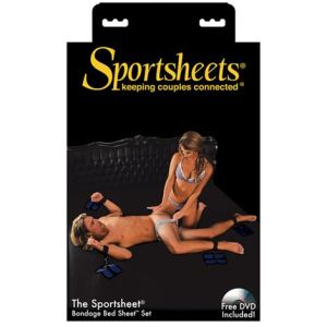 Sportsheets Bondage Bed Sheet - King Size