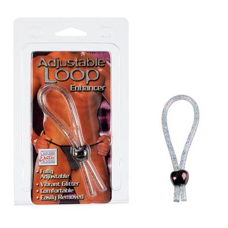 Adjustable Loop Enhancer - Clear Glitter