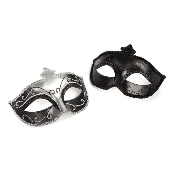 Fifty Shades of Grey Masks On Masquerade Mask Twin Pack