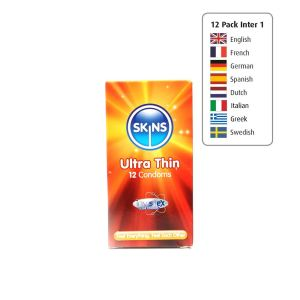 Skins Condoms Ultra Thin 12 Pack International 1