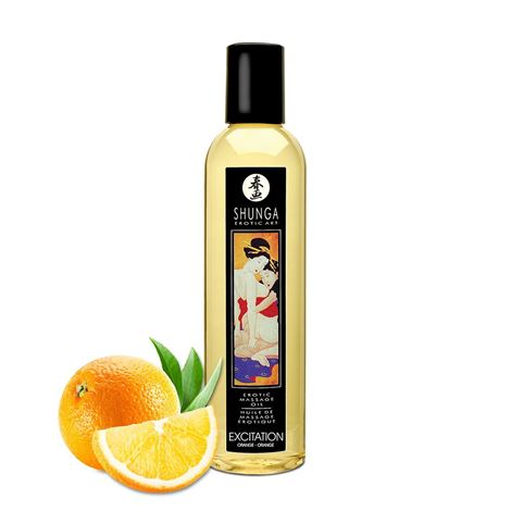 Shunga Massage Oil Excitation (Orange)