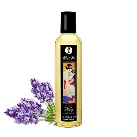 Shunga Massage Oil Sensation (Lavender)