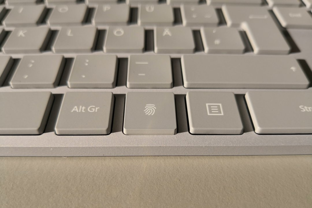Modern Keyboard, Fingerprint ID sensor detail
