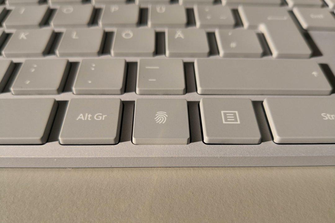 Modern Keyboard, Fingerprint ID sensor detail