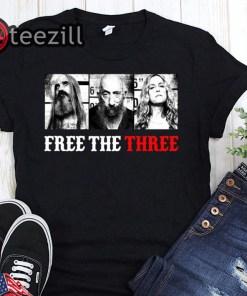 Free the three rob zombie shirt