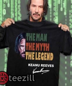 Vintage john wick the man the myth the legend keanu reeves signature shirts