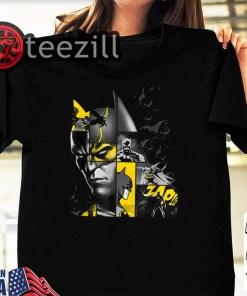 Halloween Batman 80 Years Bat Panels Dark T-Shirt