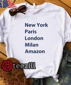 Heidi Klum New York Paris London Milan Amazon White Shirt