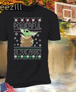 Baby Yoda Mandalorian Powerful Is The Asset Christmas Shirt