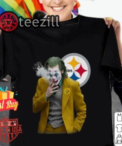Joker Joaquin Phoenix Pittsburgh Steelers Tshirt