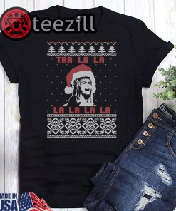 Official Jareth Labyrinth Tra La La La La La La Christmas Tshirt