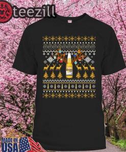 Reinbeer Corona Light Sweatshirt Reindeer Beer Christmas Shirt Beer Ugly Sweater Xmas Gift