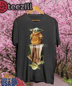 Baby Yoda And Master Yoda Water Reflection Shirts