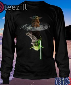 Baby Yoda Water Reflection Mirror Sweatshirt