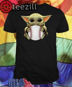 Baseball Baby Yoda Shirt