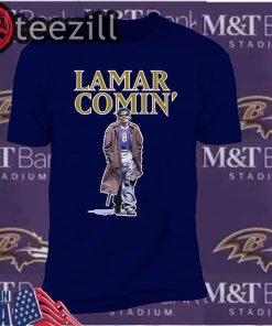 Comin' BAL Lamar Comin 8 Classic Shirt
