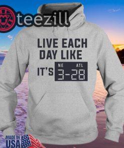 Live Each Day Like It's Superbowl Football TShirt