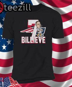 New England Patriots 7 Billieve vs Buffalo Bills TShirts