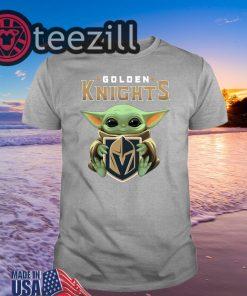 Official Golden Knights Hug Baby Yoda Shirts