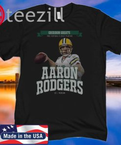 Aaron Rodgers Green Bay Packers Joel Morgan TShirt