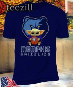 Baby Yoda Hug Memphis Grizzlies Star Wars Mandalorian Shirts