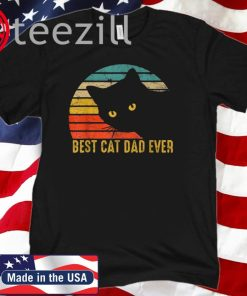Best Cat Dad Ever Vintage Shirt Cat Daddy Fathers Day 2020 Tshirt