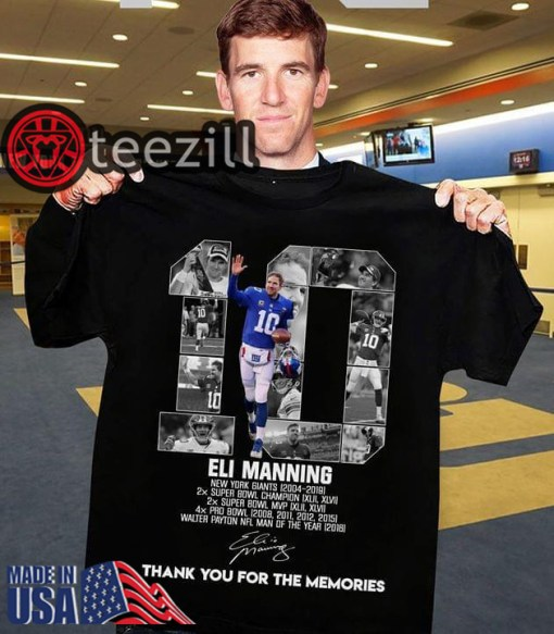 Eli Manning 10 Thank You For The Memories T Shirt