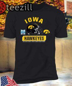 Iowa Hawkeyes Black 2019 Holiday Bowl Bound Spike T-Shirt