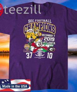 LSU Tigers 2019 SEC Football Champions 2020 Tshirt