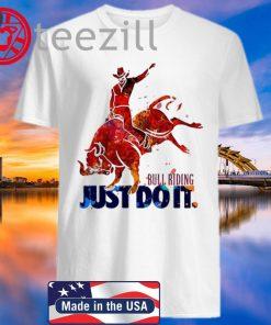 Nike Bull Riding Just Do It Red Bull TShirt