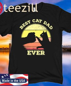 Best Cat Dad Ever 2020 Funny Cat Lover Gift Shirt