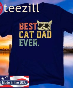 Best Cat Dad Ever T-Shirt Cat Daddy Gift T Shirt Fathers Day 2020