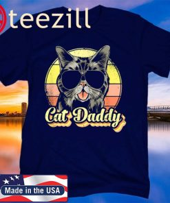 Cat Daddy Funny Best Cat Dad Ever 2020 Tee Shirt