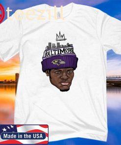 Lamar Jackson King Work Shirts - Baltimove Ravens