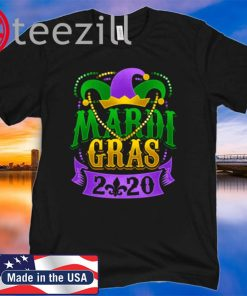 Mardi Gras 2020 Fleur de Lis Beads Souvenir Shirt