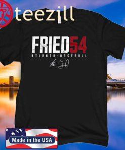 Max Fried 54 Atlanta Baseball Tshirt