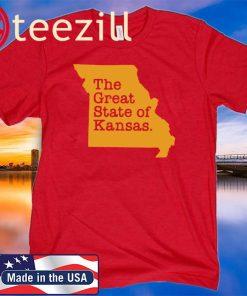 Men's Men The Great State Of Kansas T-Shirt