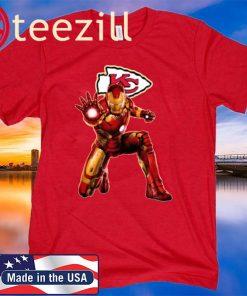 NFL Iron Man Marvel Avengers Endgame Football Sports Kansas City Chiefs T-Shirt