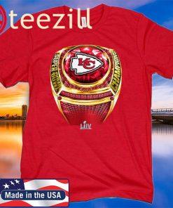 NFL Pro Line by Fanatics Branded Red Kansas City Chiefs Super Bowl LIV Champions Ring Shirt