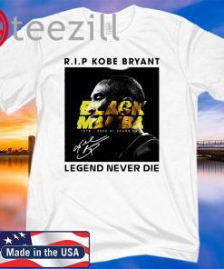 Rip Rip Kobe Bryant greatest of all time 1978-2020 Tshirt