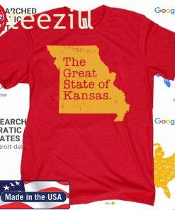 The Great State Of Kansas T-Shirt - Kansas City Chiefs KC
