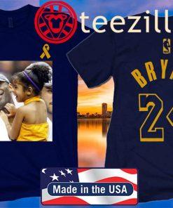 Los Angeles Lakers Kobe Bryant Black Kobe and Gigi Bryant Shirt