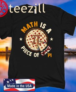 Math Is A Piece Of Cake Apple Pi Happy Pi Day Gift T-Shirt