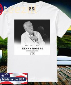 Rest In Peace Kenny Rogers Country Music Legend 1938-2020 T-shirt